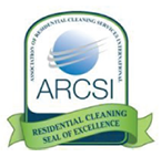 Pride Klean has been awarded this seal of Cleaning Excellence by the Association of Residential Cleaning Services International.